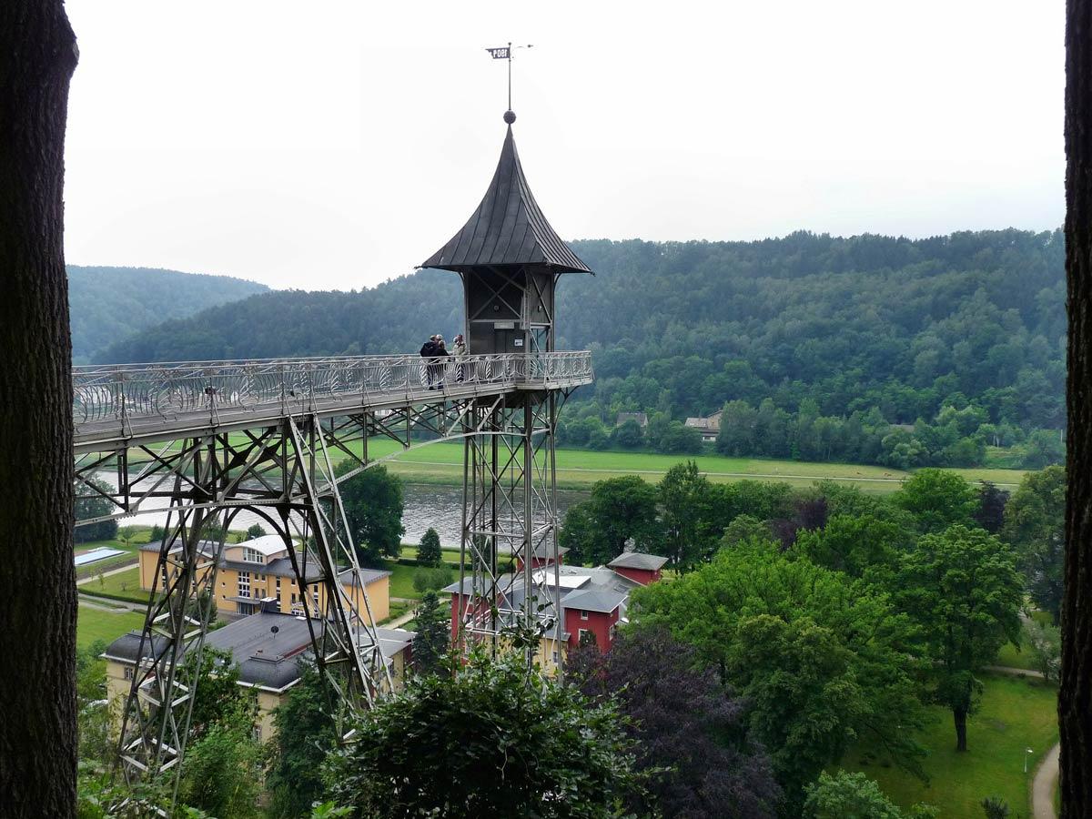 Ausflugsziele - Aufzug von Bad Schandau nach Ostrau