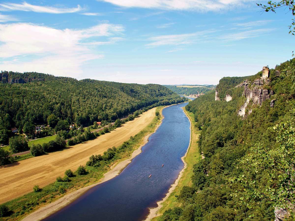 Ausflugsziele - Rathener Gebiet mit Elbe
