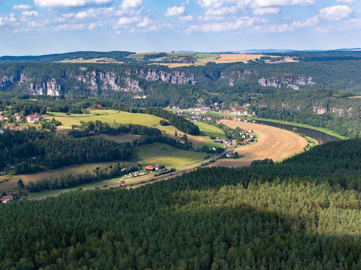 Ausflugsziele - Sächsische Schweiz mit Elbe