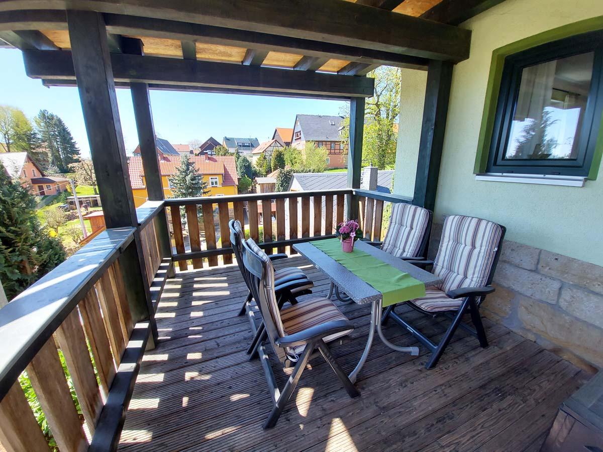 Ferienhaus Schrammsteinblick - Ferienwohnung1 mit Terrasse
