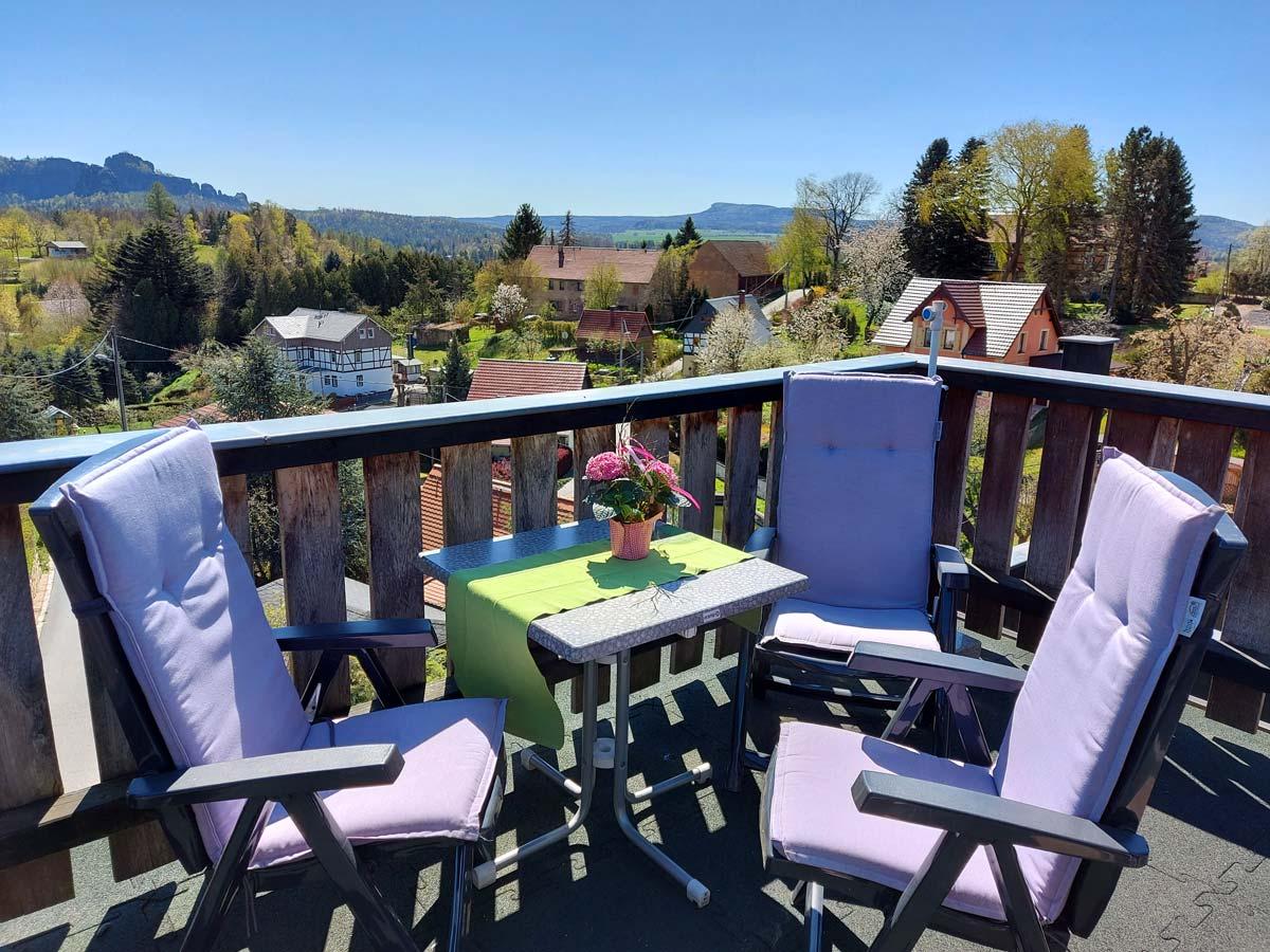 Ferienhaus Schrammsteinblick - Ferienwohnung3 mit Balkon