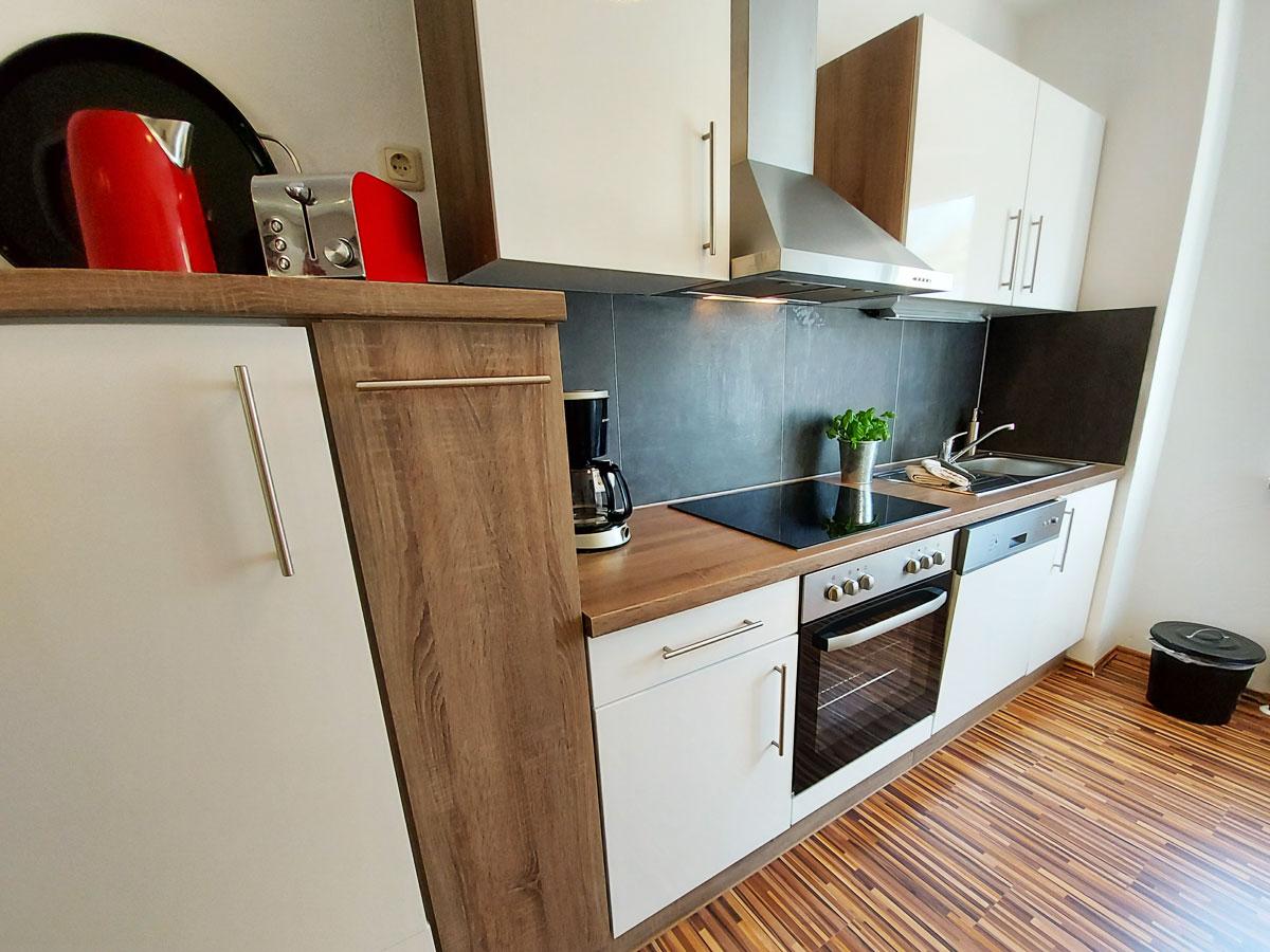 Ferienhaus Zum Kirnitzschtal - Ferienwohnung1 - Küche mit Cerankochfeld