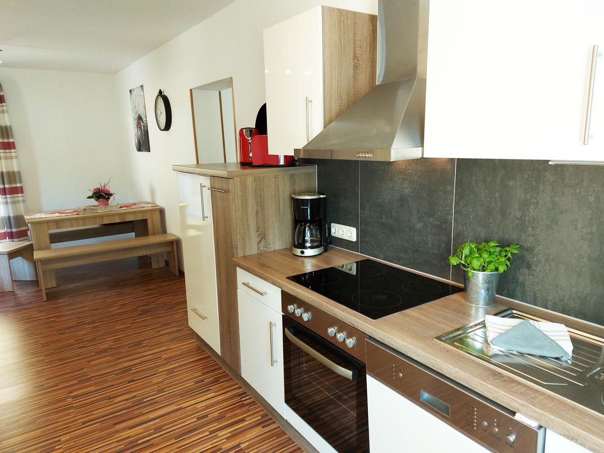 Ferienhaus Zum Kirnitzschtal - Ferienwohnung1 - Küche mit Essbereich